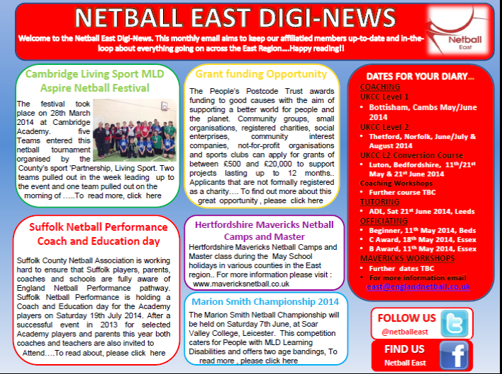 Netball East Digi News April 2014